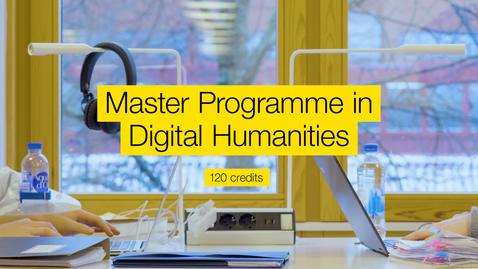 Miniatyr för mediepost Master programme in Digital humanities