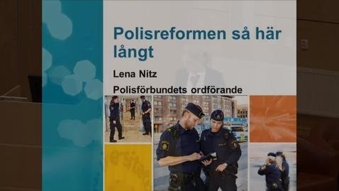 Miniatyr för mediepost Polisreformen så här långt, del 4