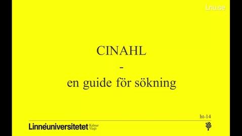 Miniatyr för mediepost CINAHL - en guide för sökning