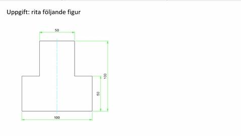 Thumbnail for entry AutoCad rita en figur med linjer