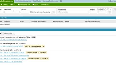 Thumbnail for entry Rapportera betyg på anonym tentamen i Ladok
