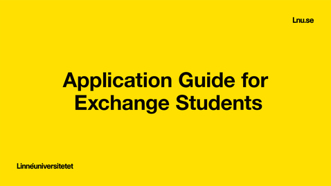 Miniatyr för inlägg Application Guide for Exchange Students