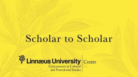 Miniatyr för mediepost Scholar to Scholar interview with Professor Mahesh Rangarajan