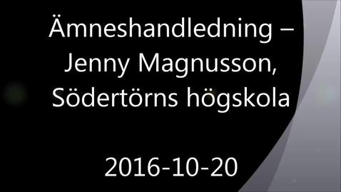 Miniatyr för mediepost Ämneshandledning - Handledning av självständiga arbeten (konferens) 2016-10-20