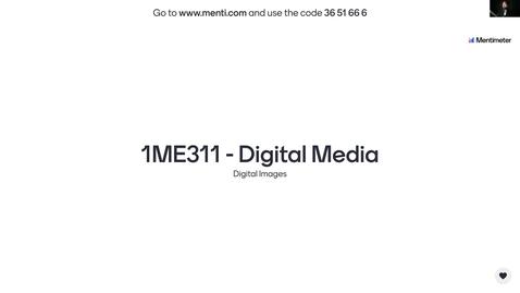 Miniatyr för inlägg 1ME311 - Digital Images