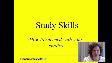 Miniatyr för mediepost Study skills