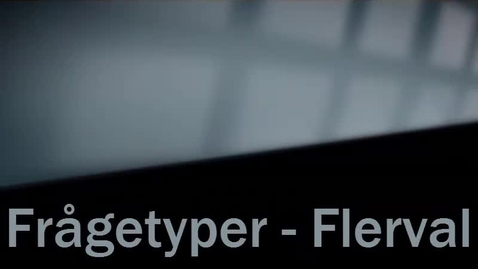 Miniatyr för inlägg Frågetyp Flerval