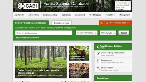 Miniatyr för mediepost Forest Science