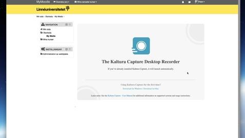 Miniatyr för mediepost Kaltura Capture - Installera på Mac