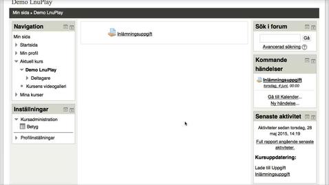 Miniatyr för inlägg Student i MyMoodle: Inlämningsuppgift med en eller flera filer