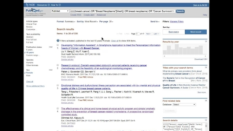 Miniatyr för mediepost PubMed - advanced (brett och fördjupat för dig som gör en litteraturstudie)