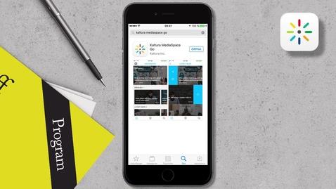 Miniatyr för mediepost Så här använder du appen Kaltura Mediaspace GO