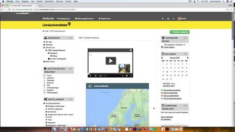 Miniatyr för mediepost Infoga dokument i aktiviteter på MyMoodle.