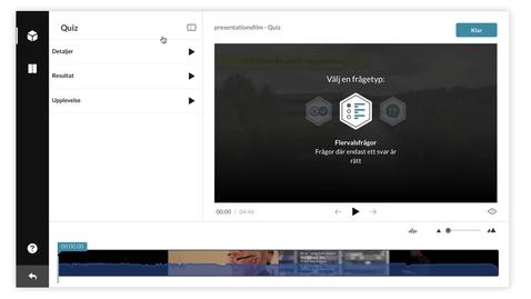 Thumbnail for entry Hur du skapar ett videoquiz