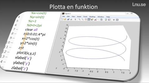 Miniatyr för inlägg Plotta en funktion i matlab