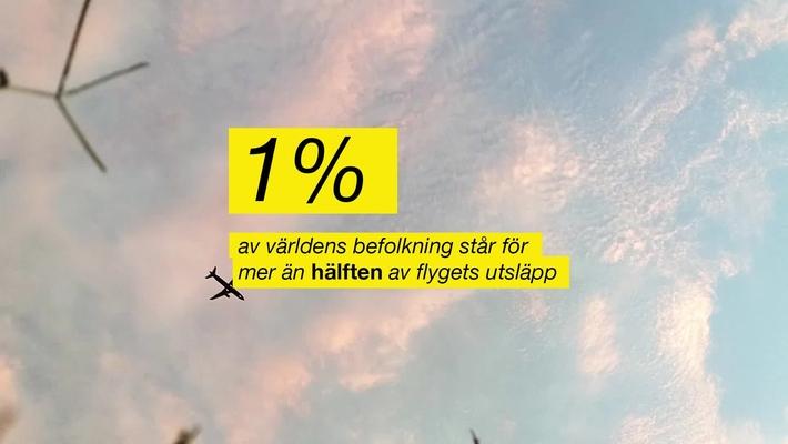 1 procent av världens befolkning står för mer än hälften av flygets koldioxidutsläpp