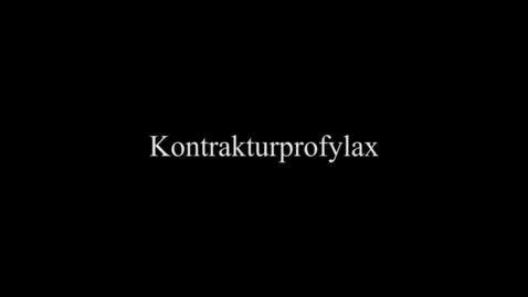 Thumbnail for entry Kontrakturprofylax ben