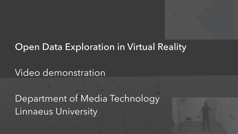 Thumbnail for entry Open Data Exploration in Virtual Reality