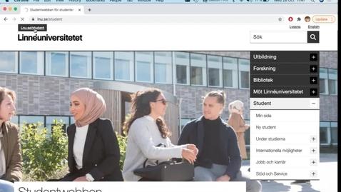 Thumbnail for entry Studentportalen - en introduktion