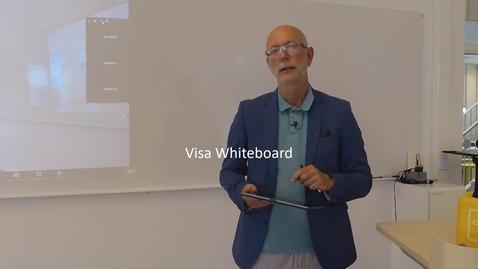 Miniatyr för mediepost Zoom i sal - Enkelt, med enkla medel - visa Whiteboarden