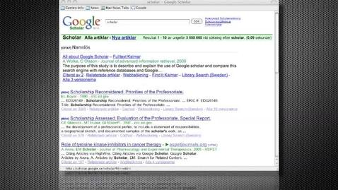 Miniatyr för mediepost Att tyda sökresultat i Google Scholar