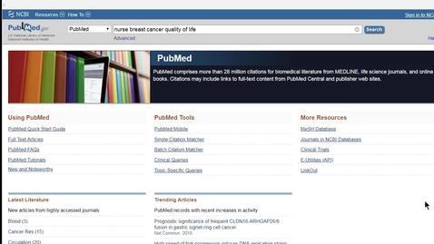 Miniatyr för mediepost PubMed - basic  (snabbt, smalt och enkelt)