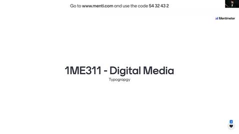 Miniatyr för inlägg 1ME311 - Typography