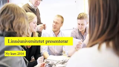 Miniatyr för inlägg Entreprenörskap och verksamhetsutveckling 7,5hp