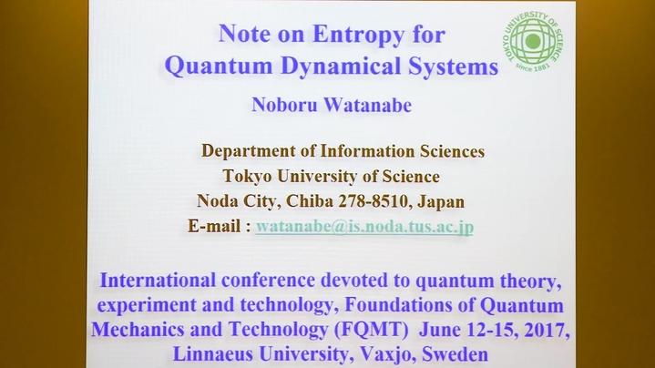 Omslagsbild för kanal Foundations of Quantum Mechanics and Technology 2017