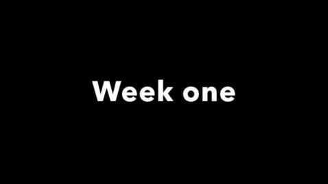Miniatyr för inlägg week one