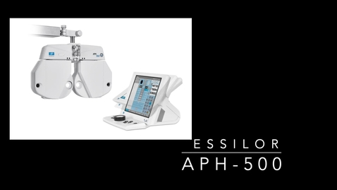 Thumbnail for entry Essilor APH-550