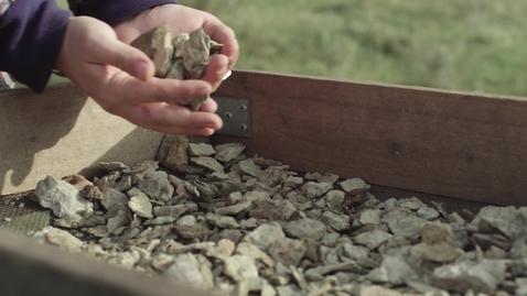 Miniatyr för mediepost Arkeologistudenter är med och gräver ut Sandby borg på Öland