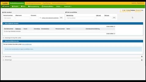 Thumbnail for entry Ny startsida (beta)  i Ladok