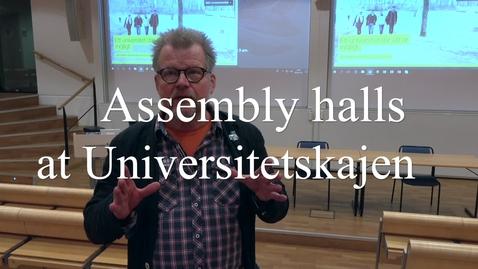 Miniatyr för mediepost Assembly halls - en
