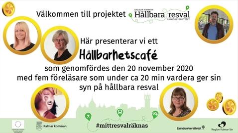 Thumbnail for entry Varför säger vi en sak men gör en annan? Stina Alriksson, Hållbarhetscafé 20 nov -20