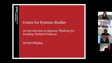 Miniatyr för mediepost An Introduction to Systems Thinking for Tackling Wicked Problems