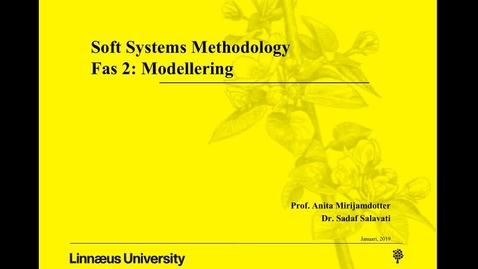 Miniatyr för mediepost Soft Systems Methodology - fas 2: modellering