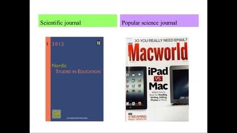 Miniatyr för mediepost Scientific journal & popular science journal