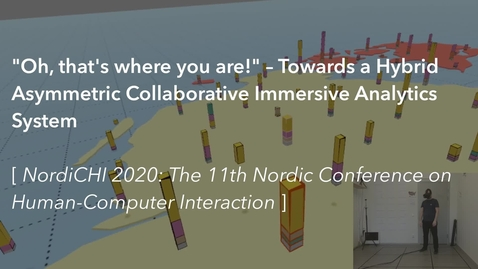 Thumbnail for entry Towards a Hybrid Asymmetric Collaborative Immersive Analytics System (NordiCHI 2020)