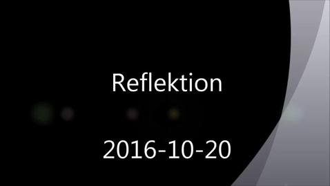 Miniatyr för mediepost Reflektion - Handledning av självständiga arbeten (konferens) 2016-10-20