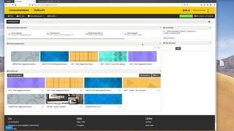 Thumbnail for entry Mymoodle – snabbgenomgång för studenter/walkthrough for students