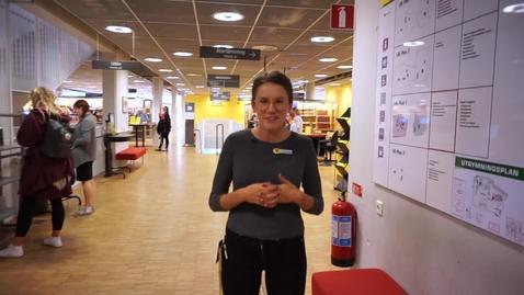 Thumbnail for entry Library run at the University Library in Växjö