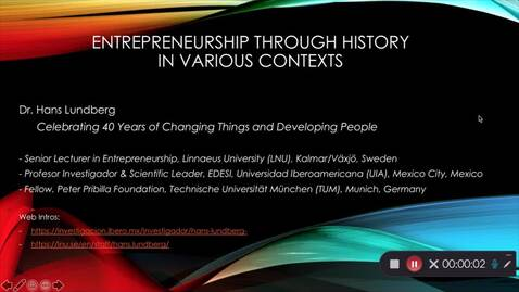 Thumbnail for entry Entreprenörer genom historien i olika kontexter - Del 1