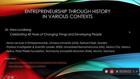 Miniatyr för mediepost Entreprenörer genom historien i olika kontexter - Del 1
