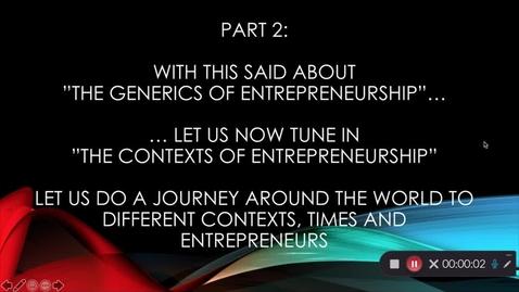 Miniatyr för mediepost Entreprenörer genom historien i olika kontexter - Del 2
