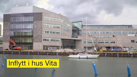 Thumbnail for entry Inflyttning i hus Vita, Universitetskajen, Kalmar