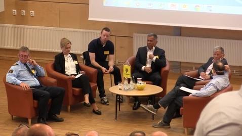 Miniatyr för mediepost Ledarskap inom polisen - Forskare möter praktiker. Panel förmiddag