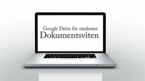 Thumbnail for entry Google Drive för studenter -Del 2 av 3 - Dokumentsviten