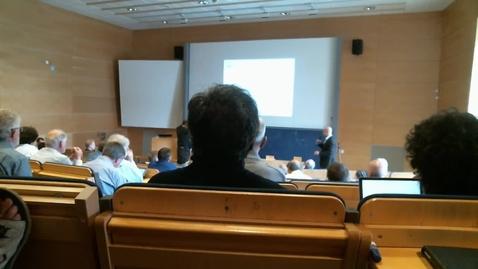 Miniatyr för mediepost H. Weinfurter: Event ready loophole free Bell test using heralded atom-atom entanglement