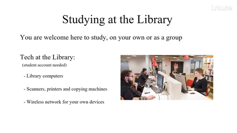 Thumbnail for entry The Linnaeus University Library - orientation day 2021